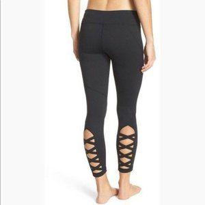Zella Lattice Legging Small High waist Black